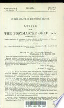 Letter from the Postmaster General, in Response to Senate Resolution of January 13, 1892, Relative to the Extension of the Free-delivery System to Rural Districts