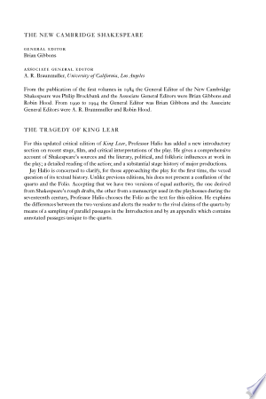 [pdf - epub] The Tragedy of King Lear - Read eBooks Online