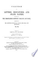 Calendar Of Letters Despatches And State Papers Relating To The Negotiations Between England And Spain 1544