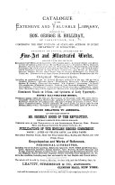 Catalogue of the extensive and valuable Library formed by the Hon. George H. Holliday, etc. (Compiled by J. W. Bouton.).