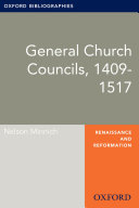 General Councils, 1409-1517: Oxford Bibliographies Online Research Guide