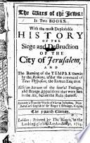 The Wars of the Jews Book PDF
