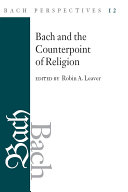 Bach Perspectives, Volume 12 Pdf