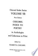 Chicorel Index to Poetry in Anthologies and Collections in Print