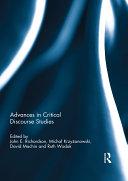 Advances in Critical Discourse Studies