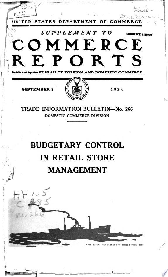 Budgetary Control in Retail Store Management