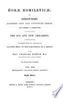 Horae Homileticae Revelation Claude S Essay Indexes