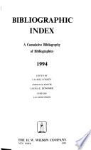 Bibliographic Index