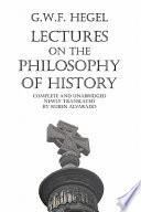 Lectures on the Philosophy of History