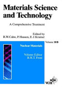 Materials Science and Technology  Nuclear Materials