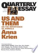 Quarterly Essay 45 Us And Them