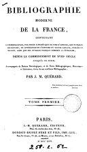 Bibliographie moderne de la France