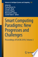 Smart Computing Paradigms: New Progresses and Challenges