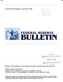 Federal Reserve Bulletin