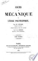 Cours de mecanique de l'Ecole polytechnique par m. Sturm