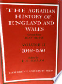 The Agrarian History Of England And Wales Volume 2 1042 1350