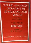 The Agrarian History of England and Wales: