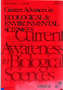 Current Advances in Ecological   Environmental Sciences Book