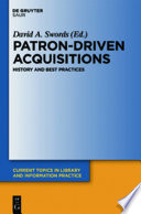 Patron-Driven Acquisitions