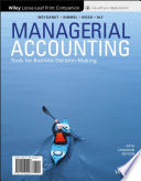 Managerial Accounting, Loose-Leaf Print Companion