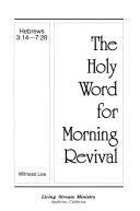 Hebrews 3 14 7 28