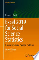 Excel 2019 for Social Science Statistics
