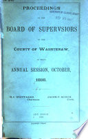 Proceedings of the Board of Supervisors of the County of Washtenaw