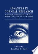 Advances in Corneal Research Book
