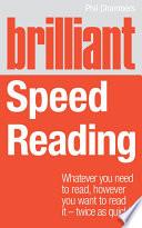 Brilliant Speed Reading Pdf/ePub eBook
