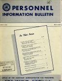 Personnel Information Bulletin