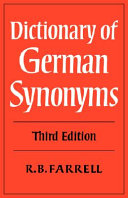 Dictionary of German Synonyms - Seite ix