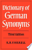 """Dictionary of German Synonyms"" by R. B. Farrell, Farrell R. B."