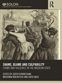 Shame, Blame, and Culpability Book