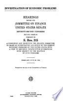 Investigation of Economic Problems