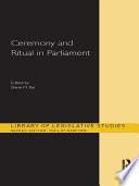 Ceremony and Ritual in Parliament Pdf/ePub eBook