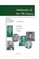 Pdf Mathematics of the 19th Century Telecharger