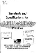 Maryland Standards and Specifications for Stormwater Management Infiltration Practices