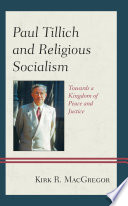 Paul Tillich and Religious Socialism Book