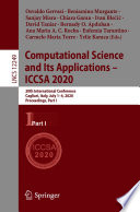Computational Science and Its Applications     ICCSA 2020