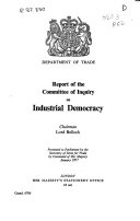 Report of the Committee of Inquiry on Industrial Democracy