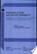 Frontiers in Pure and Applied Probability