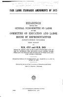 Fair Labor Standards Amendments of 1973