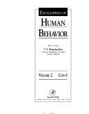 Encyclopedia of Human Behavior  Volume 2