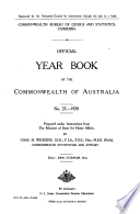 Official Year Book Of The Commonwealth Of Australia No 23 1930