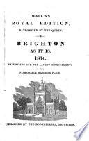 Brighton as it Is  1834 Book