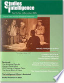 Studies in Intelligence  Journal of the American Intelligence Professional  V  53  No  4  December 2009  Book