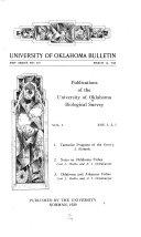 Tentative Program of the University of Oklahoma Biological Survey