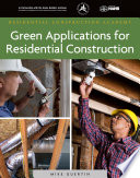 Green Applications for Residential Construction Pdf/ePub eBook
