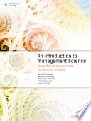 An Introduction to Management Science, 3rd Edition