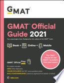 """GMAT Official Guide 2021, Book + Online Question Bank"" by GMAC (Graduate Management Admission Council)"